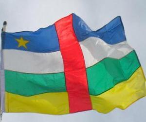 Puzle Vlajka Středoafrické republiky