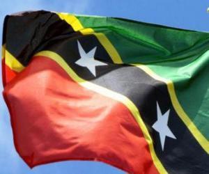 Puzle Vlajka Svatý Kryštof a Nevis
