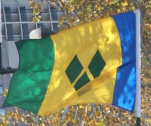 Puzle Vlajka Svatý Vincenc a Grenadiny