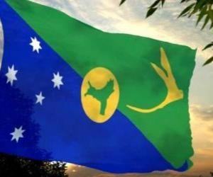 Puzle Vlajka Vánoční ostrov