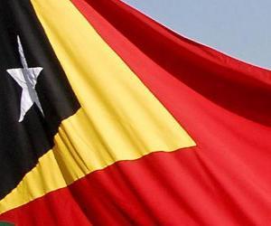 Puzle Vlajka Východního Timoru