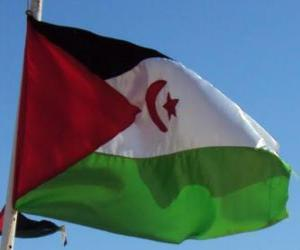 Puzle Vlajka západní Sahara