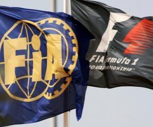 Puzle Vlajky Mezinárodní automobilové federaci
