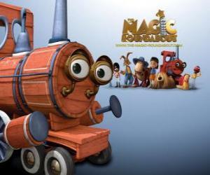 Puzle Vlak, jeden z kouzelných hraček ve filmu Dougal, Magic Roundabout