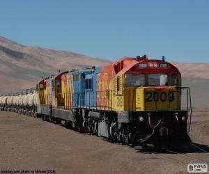 Puzle Vlak nákladní, Chile