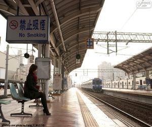 Puzle Vlak opouštějící stanici