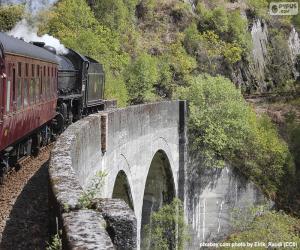 Puzle Vlak procházející viaduktou