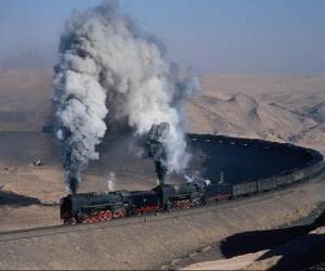 Puzle vlak zboží