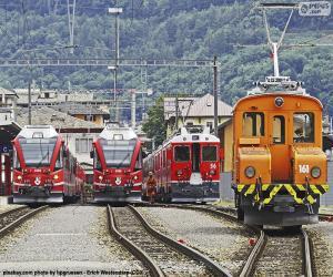 Puzle Vlaky na nádraží