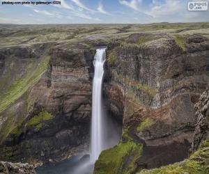 Puzle Vodopád Háifoss, Island