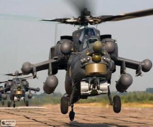 Puzle Vojenský vrtulník