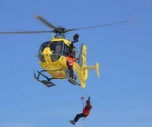 Puzle vrtulník nouze