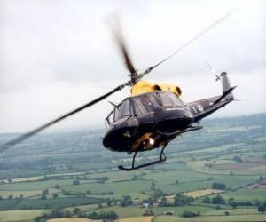 Puzle Vrtulník v akci
