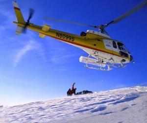 Puzle Vrtulník záchranné