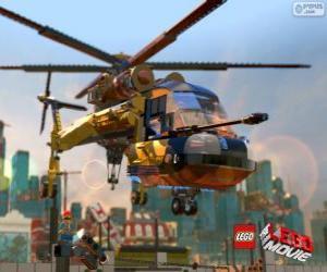 Puzle Vrtulník z filmu Lego