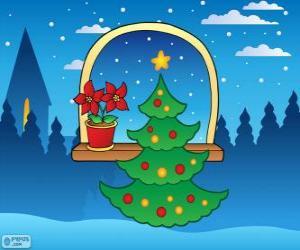Puzle Vyzdobený vánoční strom