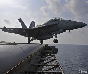 Puzle Vzletu letadlo F18