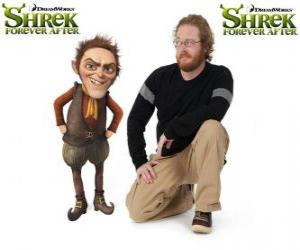 Puzle Walt Dohm poskytuje hlas Rumpelstiltskin, v poslední film Shrek Forever Po