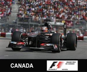 Puzle Webber - Sauber - okruh Gilles Villeneuve, Montreal, 2013