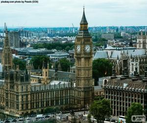 Puzle Westminsterského, Big Ben, Londýn