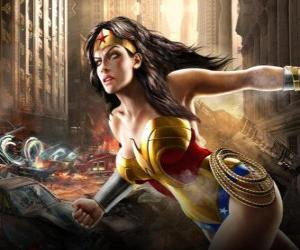 Puzle Wonder Woman je nesmrtelný superheroine s pravomocemi podobné Superman