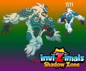 Puzle Yeti. Invizimals Shadow Zone. Výkonný yetis žijí ukrytá v nejvyšší vrcholky Himálají