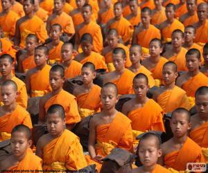 Puzle Young Buddhističtí mniši