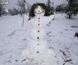 Puzle Zábavné sněhuláka