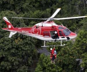Puzle Záchranný vrtulník