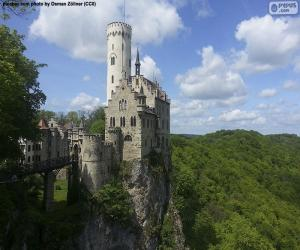 Puzle Zámek Lichtenstein, Německo