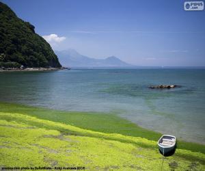 Puzle Západní pobřeží Kjúšú, Japonsko