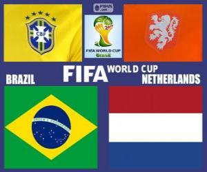 Puzle Zápas o třetí místo, Brazílie 2014, Brazílie vs Nizozemsko