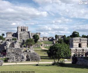 Puzle Zříceniny Tulum, Mexiko
