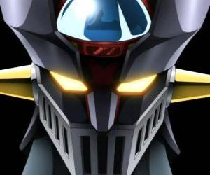 Puzle Z Mazinger, hlava gigantické Super Robot, hlavní protagonista v dobrodružství manga série Mazinger Z