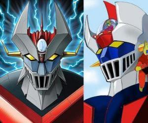 Puzle Z Mazinger, obrázky hlavy Super Robot