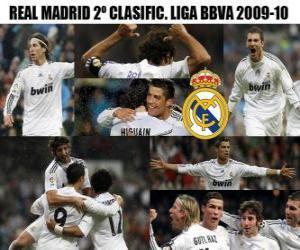 Puzle Zařadil druhý Real Madrid Liga BBVA 2009-2010