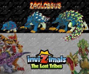 Puzle Zaglossus, nejnovější vývoj. Invizimals The Lost Tribes. Invizimal připomíná dikobraza