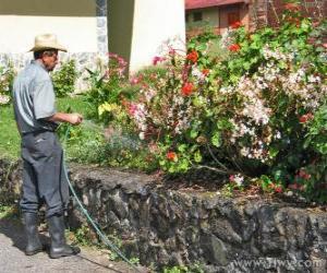 Puzle Zahradník, napojení na jaře