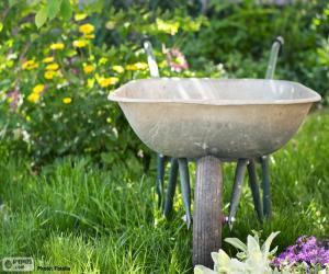 Puzle Zahradník trakař