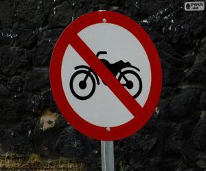 Puzle Zakázané motocykly signál