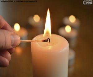 Puzle Zapálit svíčku