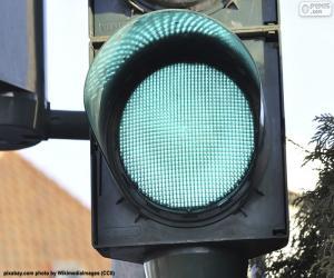 Puzle Zelené semafor