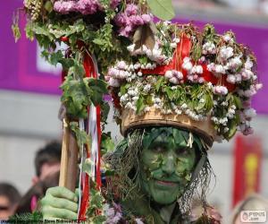 Puzle Zelený muž, karneval