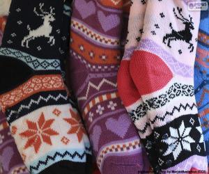 Puzle Zimní ponožky