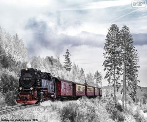 Puzle Zimní vlak