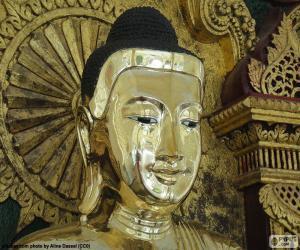 Puzle Zlatý Buddha hlava