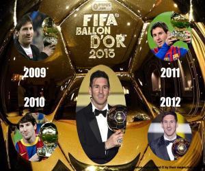 Puzle Zlatý míč FIFA 2015