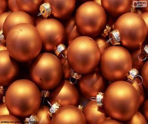 Puzle Zlatý míč Vánoc