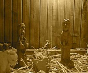 Puzle Zrození figurky a dřevěné postýlky