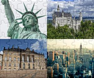 Puzzles Domy, Města a Památky